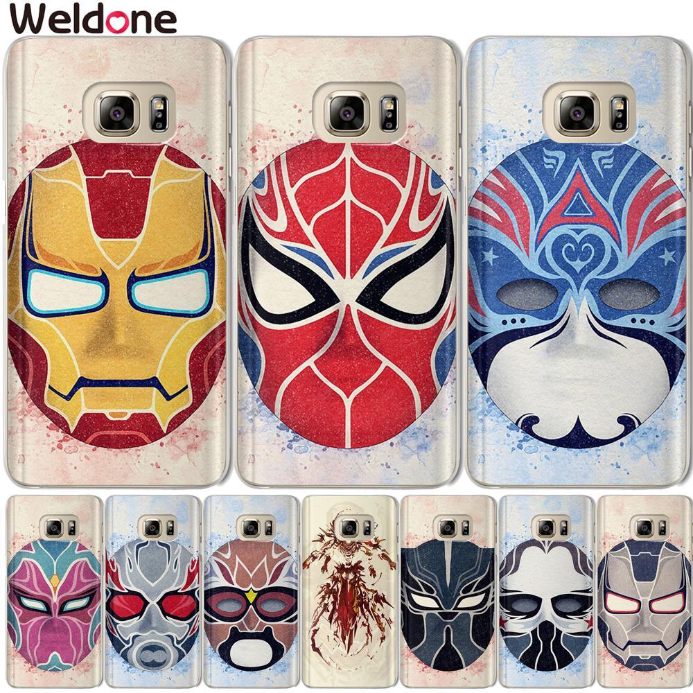 Marvel Avengers Case For Samsung S9 Plus  S7 S6 Edge S8 Plus G530 J3 J7 J5 2016 2017 J2 Prime Spiderman iron Man case cover Etui
