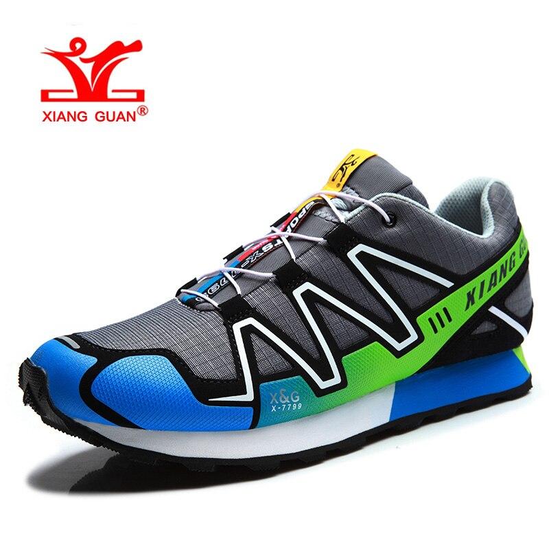 XIANGGUAN Man Hiking Shoes for Men Athletic Trekking Boots Gray Zapatillas Sports Hike Climbing Shoe Outdoor Walking Boot 3 2 1