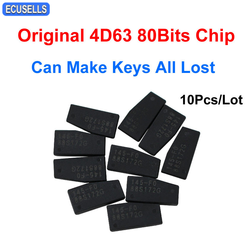 10 Pcs Lot Car Key Chip Original High Quality 4D63 80bit Chip for Ford and For