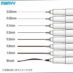 Image 1 - 8 cái/lốc Marvy nghệ thuật bút vẽ và Bàn Chải Phác Thảo Lót sắc tố hoạt hình bút gel Anime dụng cụ Văn Phòng Phẩm trường cung cấp 6861