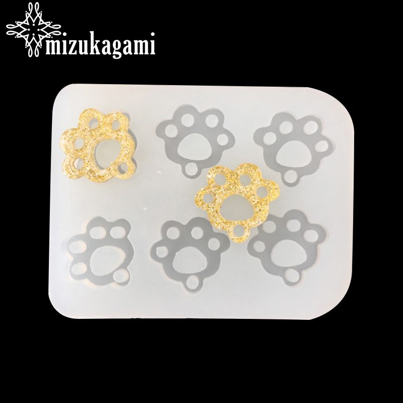 UV Resin Jewelry Liquid Silicone Mold Animal Footprints Shapes Resin Molds Charms For DIY Handwork Jewelry Finding Accessories