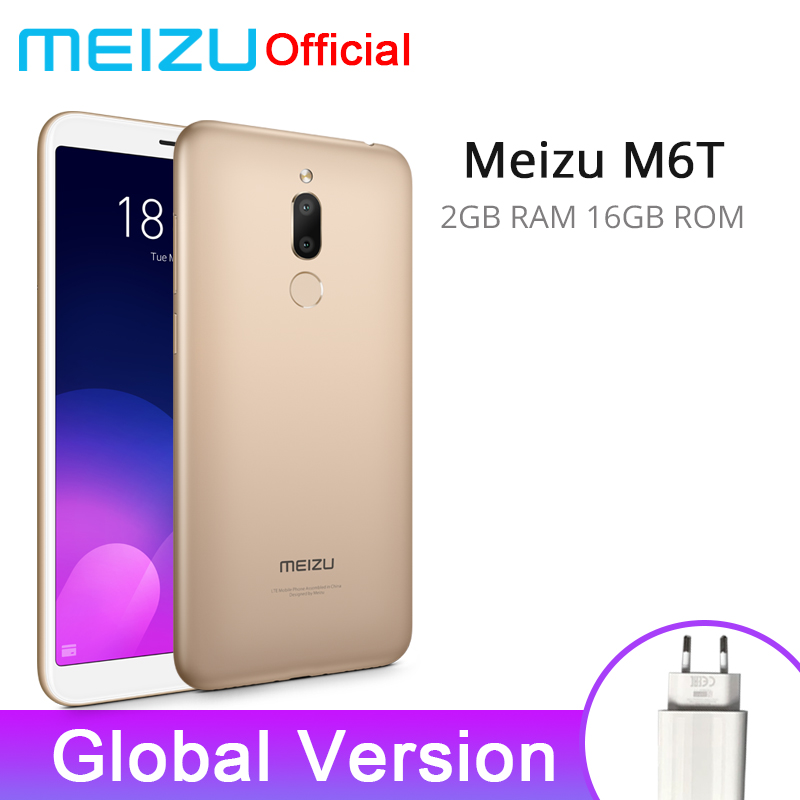 Official Global Version Meizu M6T 2GB 16GB Mobile Phone Octa Core 5.7″ 18:9 Full Screen Dual Rear Camera 3300mAh Fingerprint ID