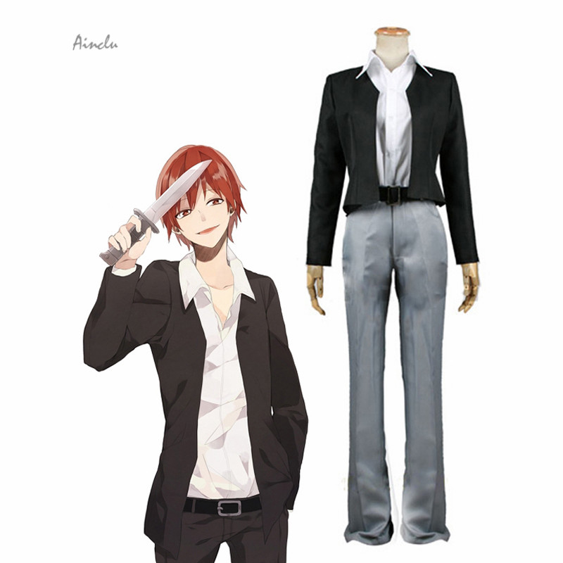 Ainclu Assassination Classroom Class 3-E Karma Akabane Suit kids costume  Cosplay Costume