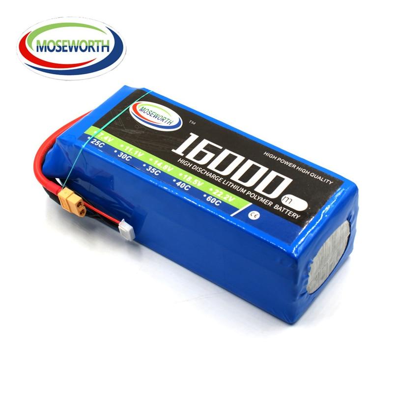 MOSEWORTH 6S RC Lipo Batería 22.2 v 25C 16000 mAh Para RC Aviones de - Juguetes con control remoto