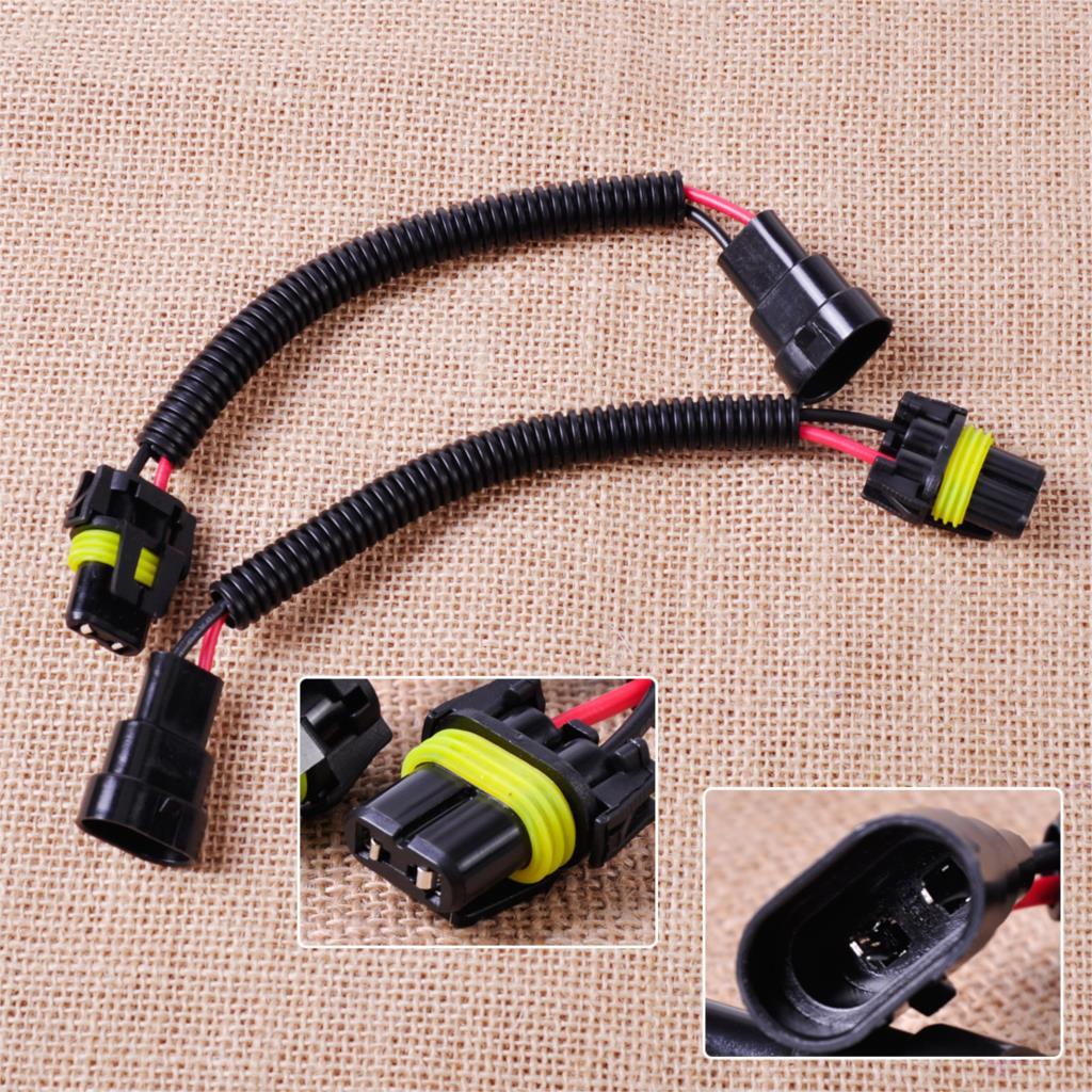 medium resolution of citall new pvc plastic nylon 2pcs 9006 9012 hb4 extension wiring harness socket plug wire for headlight fog light