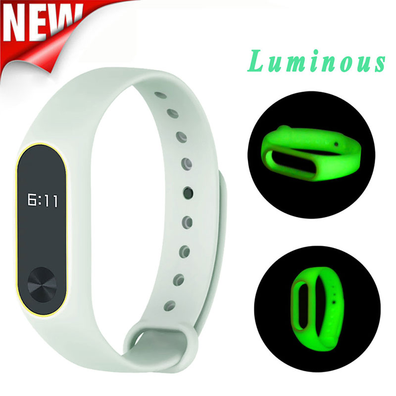 Luminous Silicon Wrist Strap Replacement WristBand Bracelet For XIAOMI MI Band 2 Correas de reloj 2018 High Quality Watchbands new fashion original silicon wrist strap wristband bracelet replacement for xiaomi mi band 2 dignity 8 9
