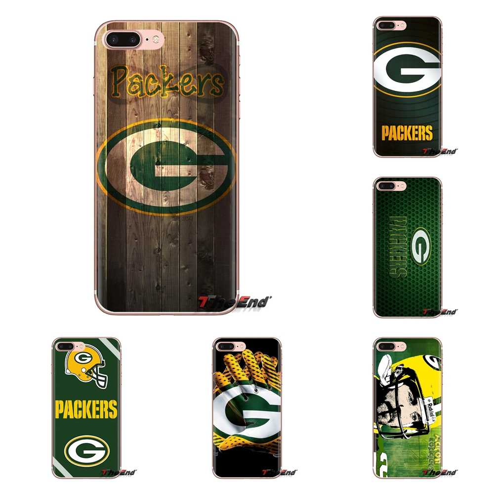Super Saco de Futebol Green Bay Packers G Logotipo Capa de Silicone Para iPod Touch Da Apple iPhone 4 4S 5 5S SE 5C 6 6 S 7 8 X XR XS Mais MAX