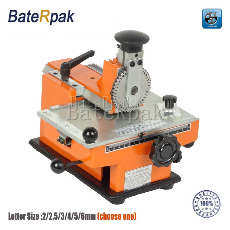 YL-360 BateRpak handmatige markeermachine, aluminium labelcodeermachine, apparatuur parameter labelprinter 2 / 2.5 / 3/4/5 / 6mm