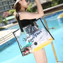Large Capacity PVC Summer Waterproof Transparent Shoulder Beach Bag Women Messenger Bags High Quality Crossbody Swimming