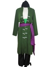 One Piece Roronoa Zoro Cosplay Costume Two years later clothes with earrings F008