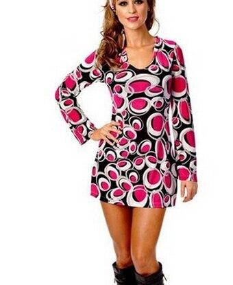 free shipping ladies 60s 70s retro hippie go go girl disco costume fancy dress hen xmas