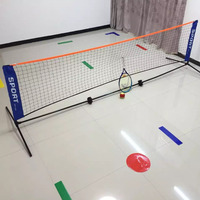 3.1*1.5 M Portable Adjustable Badminton Volleyball Net With Stands 3.1*0.9 M Outdoor Indoor Foldable Tennis Net With Frame F2034
