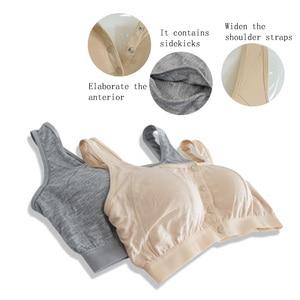 Image 4 - 6031 Voorsluiting Bh/Vrouwen Beha Plus Size/Katoen Beha Met Zakken Voor Post Chirurgie Vrouwen Siliconen Insert