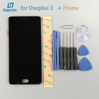 OnePlus 3 LCD Display Touch Screen Frame 1920X1080 FHD Glass Panel Tools Digitizer Accessories For OnePlus