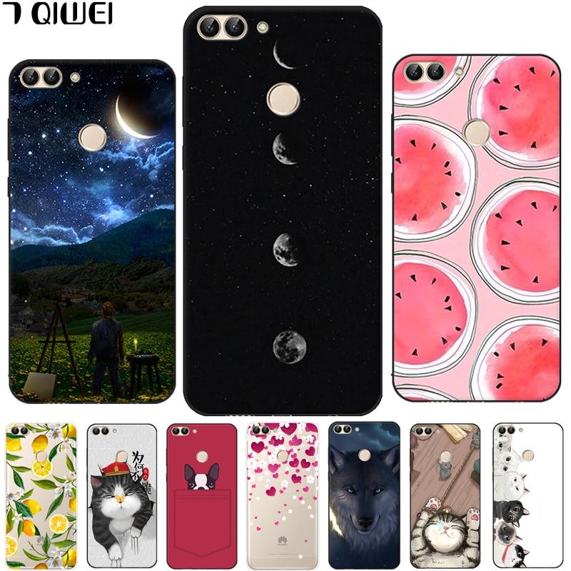 informazioni per 5c44a 0a864 US $1.12 41% OFF|D For Huawei P Smart 2018 Case 5.65'' Silicone for huawei  enjoy 7s case Cute Back Case For Funda Huawei P Smart Cover Soft TPU-in ...