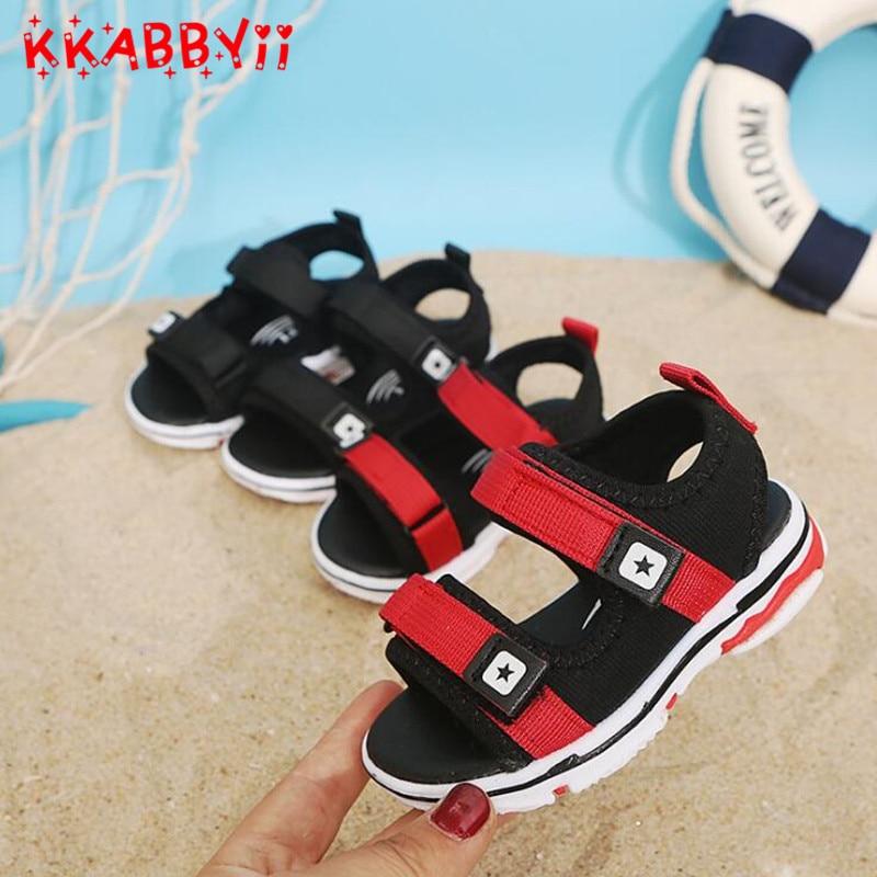 New Summer Boys Anti-slip Designer Sport Sandals New High Quality Kids Shoes Children Beach Slippers Sandals For Baby