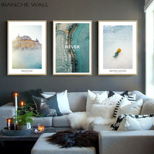 Sea Water Surface Landscape Canvas Poster Nordic Style Inspirational Wall Art Print Painting Decoration Picture Scandinavian Dec все цены