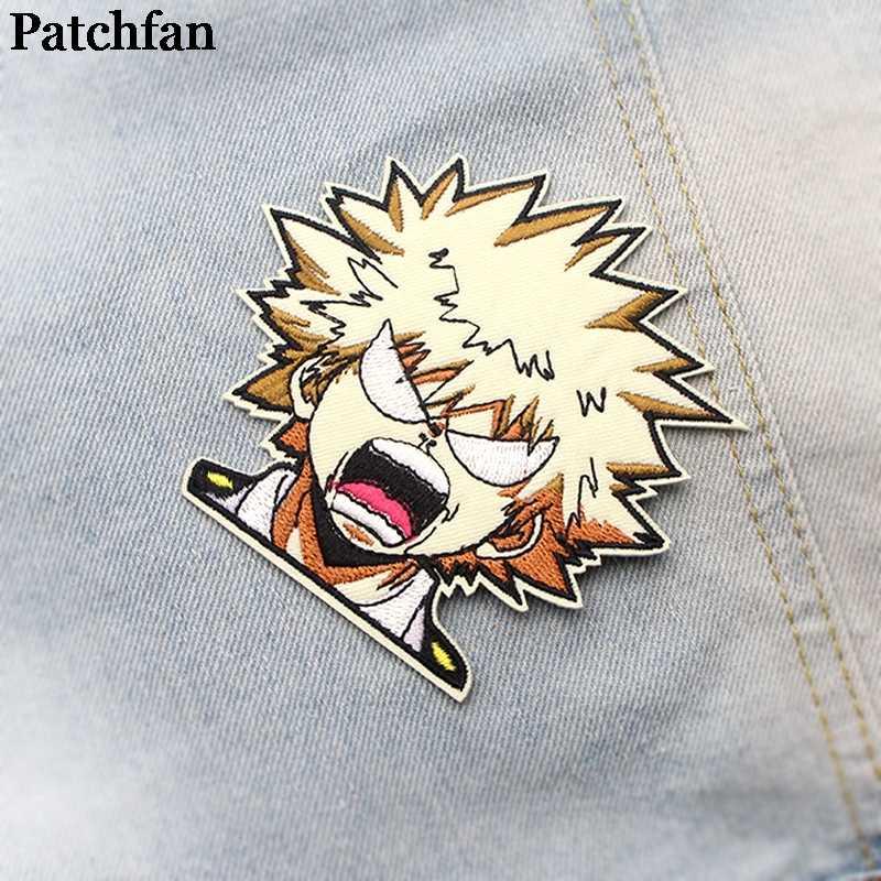 Patchfan Mijn Hero Academia Applique Patches Diy Ijzer Op Para Jeans Zak Overhemd Kleding Accessoire Stickers Embroideried Badge A2097