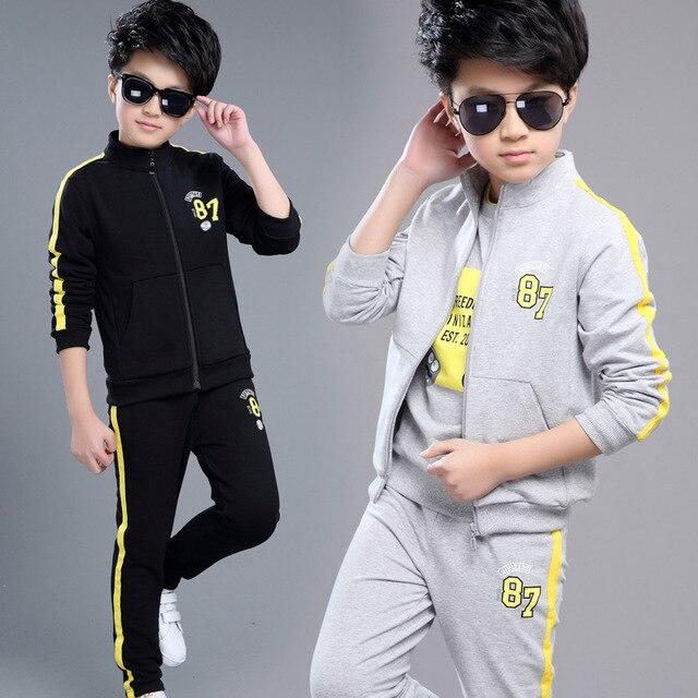 0f63c2b149099 Vêtements Pour 8 9 10 11 13 ans garçons enfants de vêtements ensemble  garçons veste t