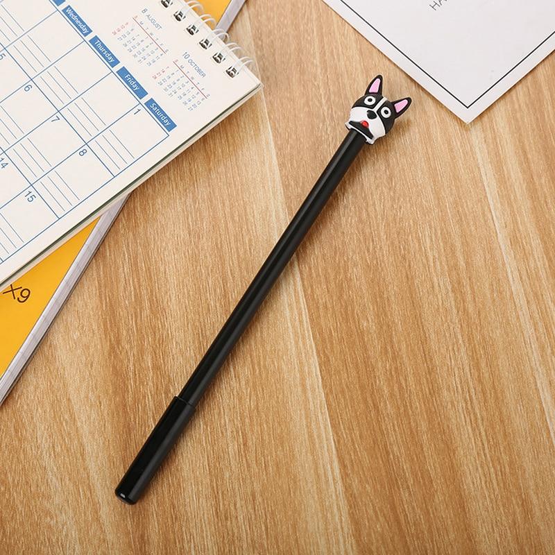 1 PCs Cartoon סיליקון Kawaii פוקס ראש ניטראלי עט למידה יצירתית כתיבה טרי בעלי החיים סטיילינג חמוד תלמיד מזרקת עטים