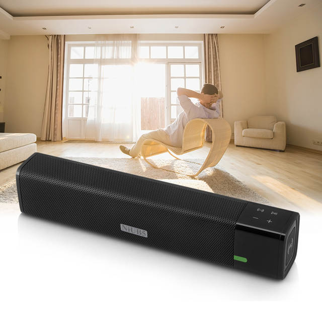 US $37 71 34% OFF|NiUB5 SL 1000 Altavoz Bluetooth Speakers DSP MaxxAudio  Smart Subwoofer 20W Portable Touch Wireless Bluetooth Speaker for iphone-in