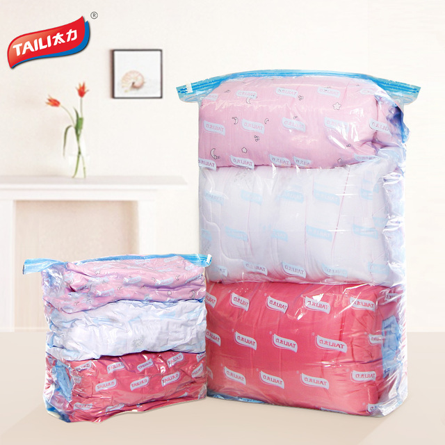 2 PCS Space Saver Vacuum Bags Storage Cubes Comforter Toy Clothing Storage  Compression Bags For Packing