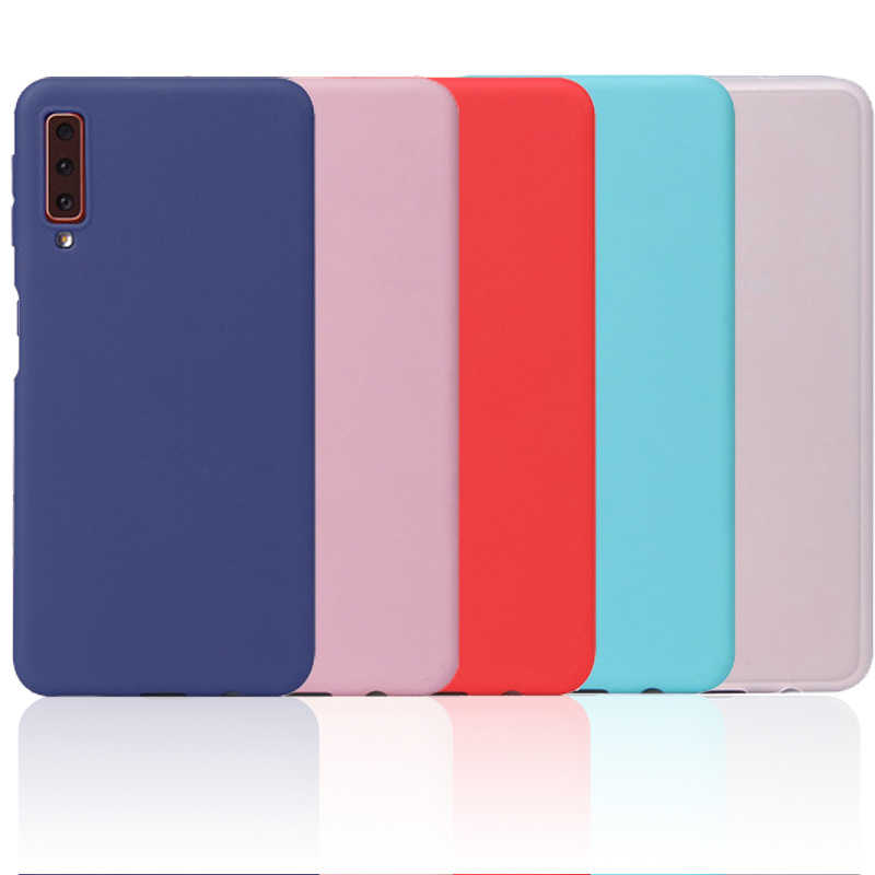 Colorful Matte Case For Samsung Galaxy S9 S8 S10 Plus S10e Note 9 8 A6 A8 Plus A9 A7 2018 Soft Silicone Cover Space Pattern Capa