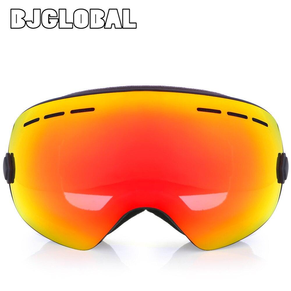 Bjglobal унисекс двойной линзы мотоциклетный очки Байк мотокросс очки UV400 Анти-туман сноуборд Лыжный спорт, горнолыжные очки