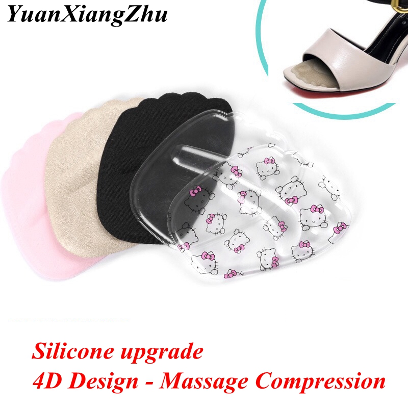1 Pair High Heels Mat Silicone Gel Heel Cushion Protector Foot Feet Care Shoe Insert Pad Insole Soft Inserting Insole Woman Pad
