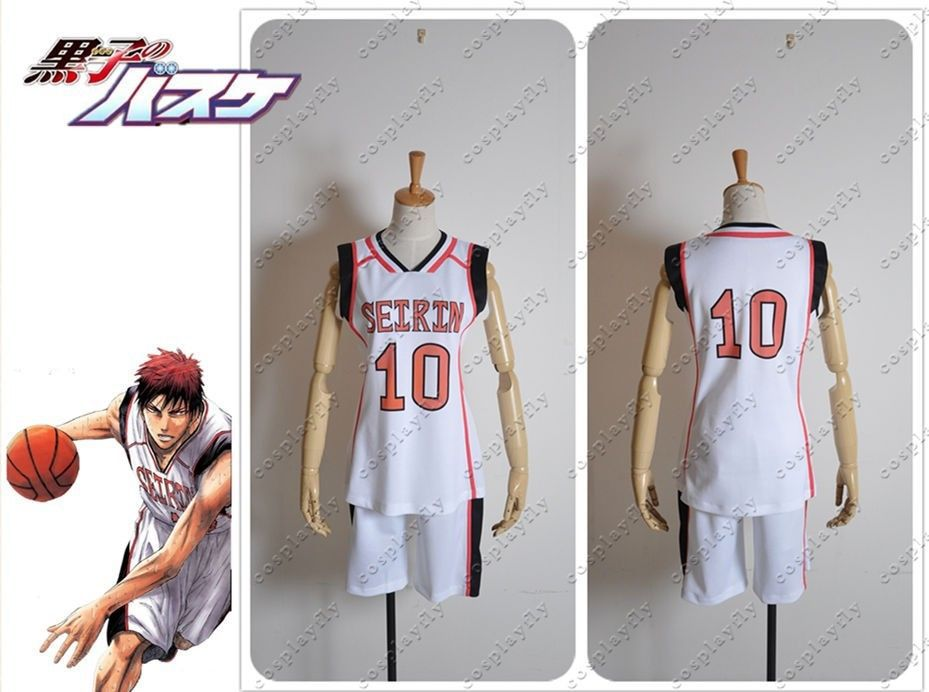 Kuroko no basuke Kagami Taiga Cosplay Costume Jersey - Comic Version Outfit Clothing For Adult (Number can be changed)  C0279