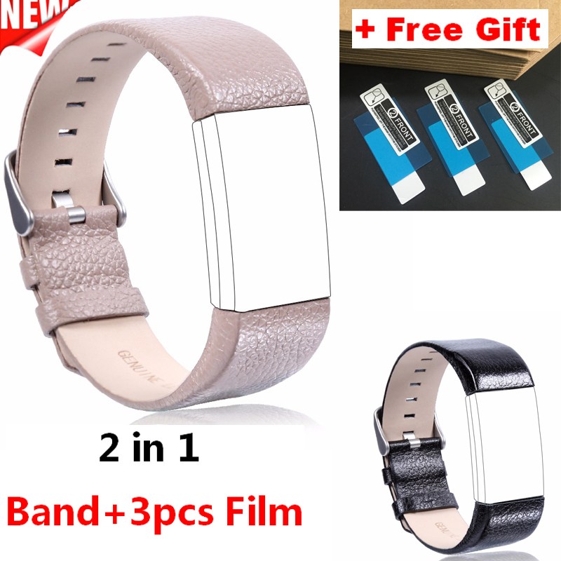 New Arrival Genuine Leather Watch Band For Fitbit Charge 2 Smart Bracelet Strap Sports Leather WatchBand For Fitbit Charge2 Band fitbit watch