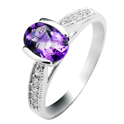 Natural Amethyst Ring 925 Sterling silver Purple Crystal Woman Fashion Fine Elegant Jewelry Queen Birthstone Gift sr0219a natural green peridot ring 925 sterling silver crystal rose gold plated woman fashion fine elegant jewelry queen birthstone gift