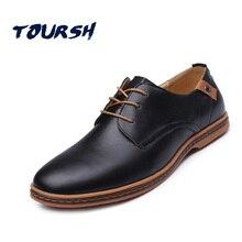 TOURSH Shoes Men Luxury Italian Mens Shoes Casuals Leather Oxford Shoes Men Leather Zapatillas Deportivas Hombre Large Sizes 48