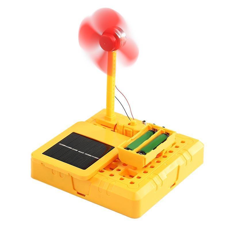 DIY Solar Fan Toy Fan Model Building Material Kits Physics