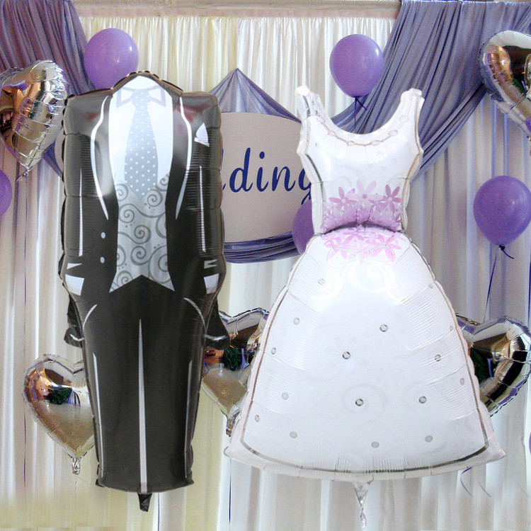 New Dress Balloons Wedding Gown Events Bride Groom Bridal Gown Helium Foil Balloons Event & Party Supplies Wedding Favors