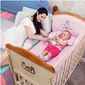 Baby bed solid wood environmental protection paint child bed multifunctional BB bed changeable desk baby game bed