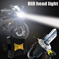 55 W Brillante Estupendo H4 Hid Bi Xenon Bombilla 3000 K 4300 K 5000 K 6000 K 8000 K 10000 K 12000 k de La Motocicleta Xenon HID kit de Conversión Kit