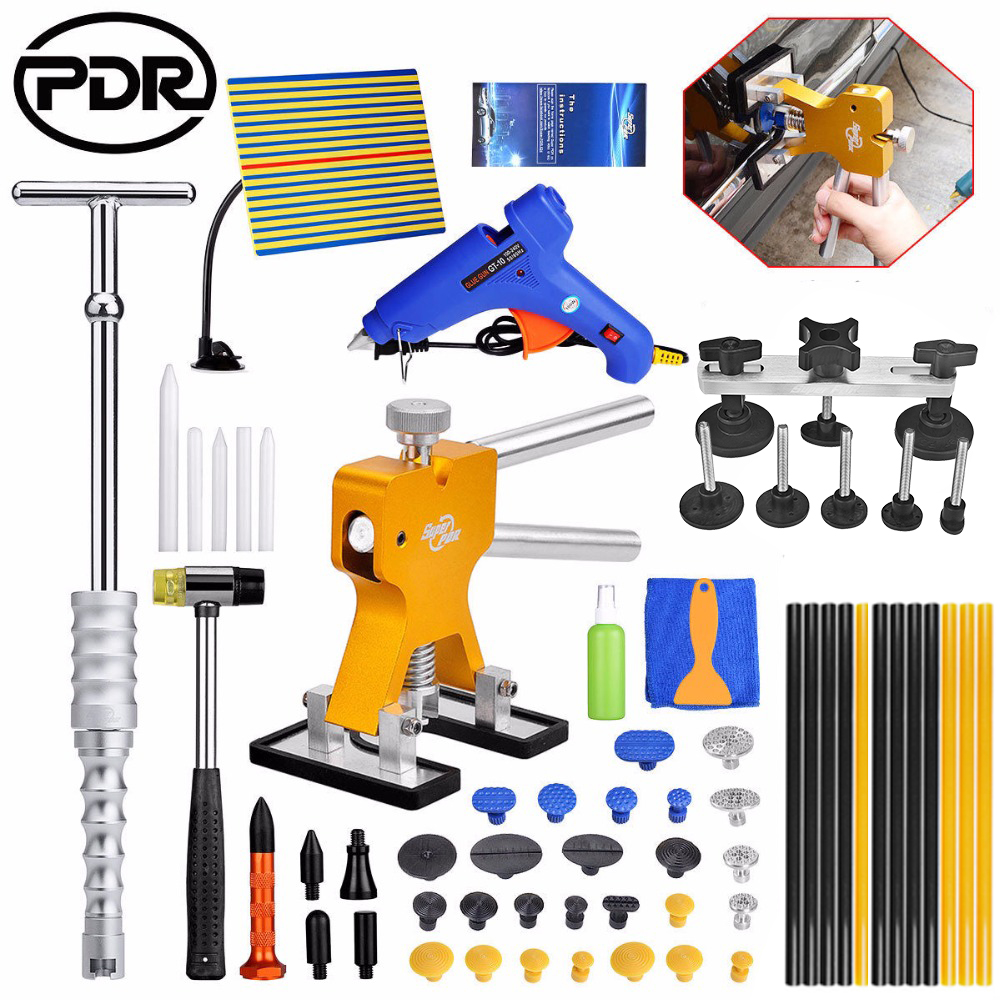 Car Body Repair Kit PDR Tools Dent Removal Paintless Dent Repair Tools Dent Puller Bridge Puller Tool Set Suction Cup For Dent