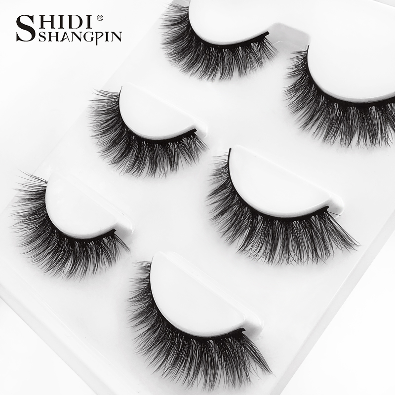 HTB1VFVlXUzrK1RjSspmq6AOdFXaU SHIDISHANGPIN 3 pairs mink eyelashes natural fake eye lashes make up handmade 3d mink lashes false lash volume eyelash extension