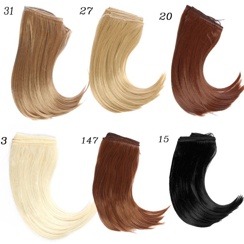1pcs 25*100CM Doll wigs Big Bend hair For 1/3 1/4 1/6 BJD /SD dolls accessories 1 8 1 6 1 4 1 3 uncle bjd sd dd doll accessories wigs gold long straight hair