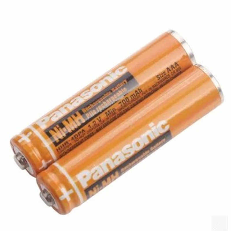 2PCS Original Panasonic AAA 1.2V 630mAh Rechargeable NiHM Battery Charging times or 1200 times Free shipping!