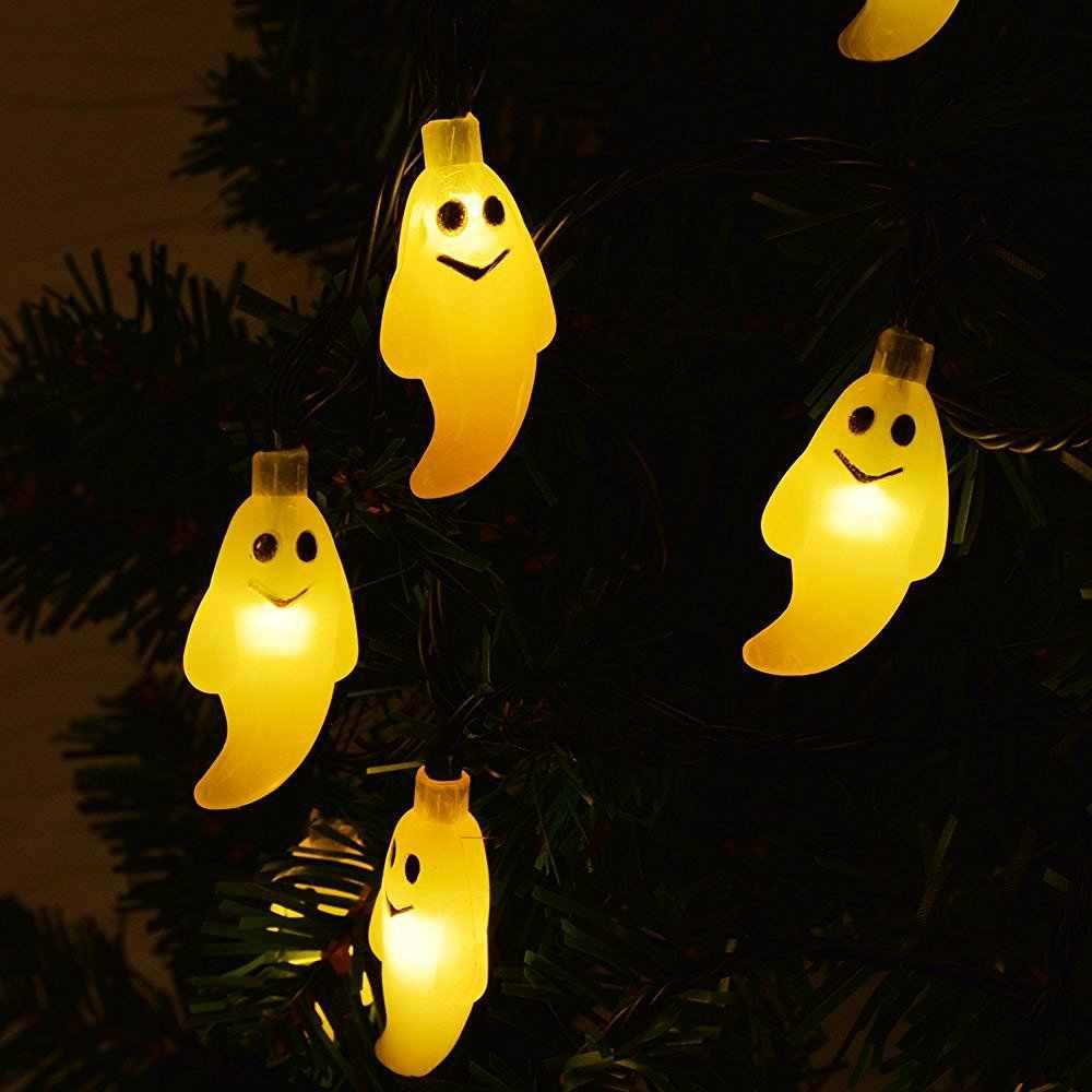 Солнечная наружная гирлянда 30 светодиодный светильник Ghost, водонепроницаемая лампа для сада, внутренний двор, домашний светодиодный фонарь для рождественских вечеринок