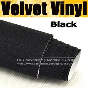 10/20/30/40/50/60x135CM/Lot Black Color Promotion suede fabric velvet for car wrap vinyl interior and exterior decoration