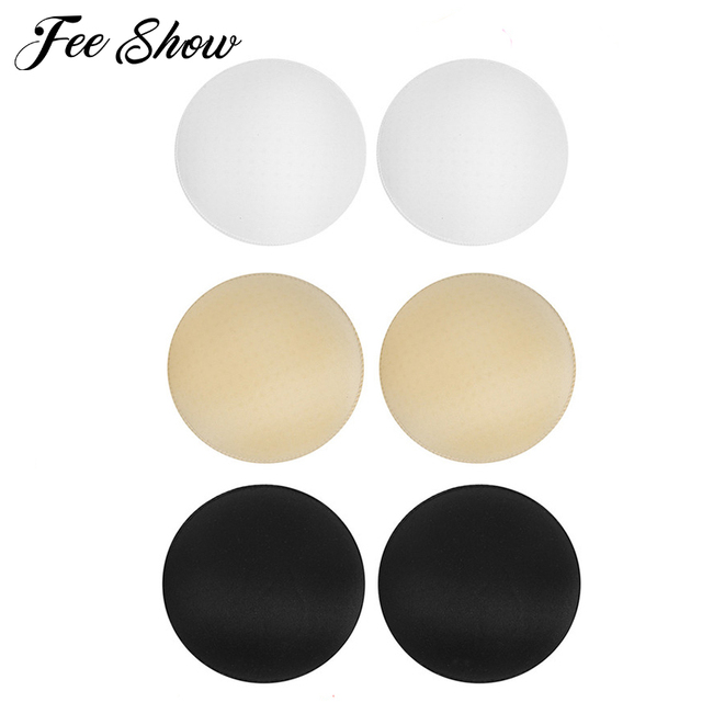 a864156b79e4e New 3 Pairs Women Round Bra Pads Inserts for Bra Bikini Tops Swimsuit  Women s Skin Breathable Washable Round Bra Pads Inserts