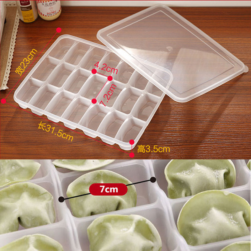 Купить с кэшбэком Grid egg storage box food container keep eggs fresh refrigerator organizer kitchen dumplings storage containers