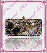 Aidocrystal Neue Luxuriöse Diamant Bowknot Crown Leopard Kopf Kristall Abendtaschen Hot Styling Tageskupplungen Dame Hochzeit Geldbörse