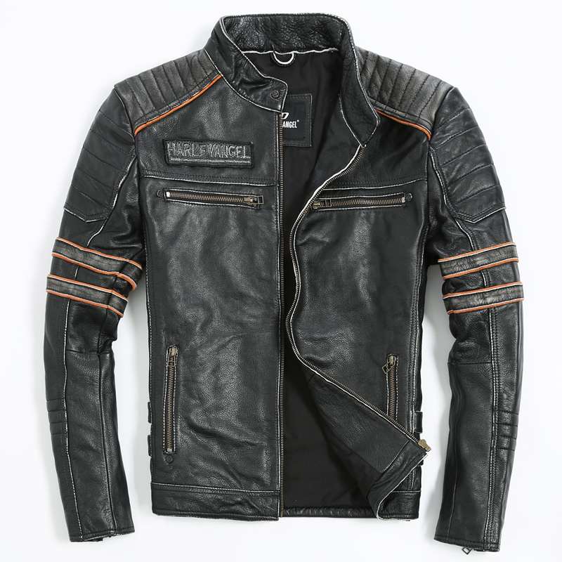 Embroidery Skull Motorcycle Clothing font b Men s b font font b Leather b font font