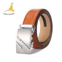 CNYANGCHENG Mens Designer Belts High Quality Genuine Leather Automatic Buckle Male Waistbands Luxury Cummerbunds Belts