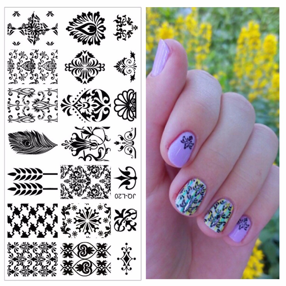 Nail Art Templates Nice New Fashion Professional Stamping Stainless Steel Image Plates Nail Art Decorations Tools #jq-l17