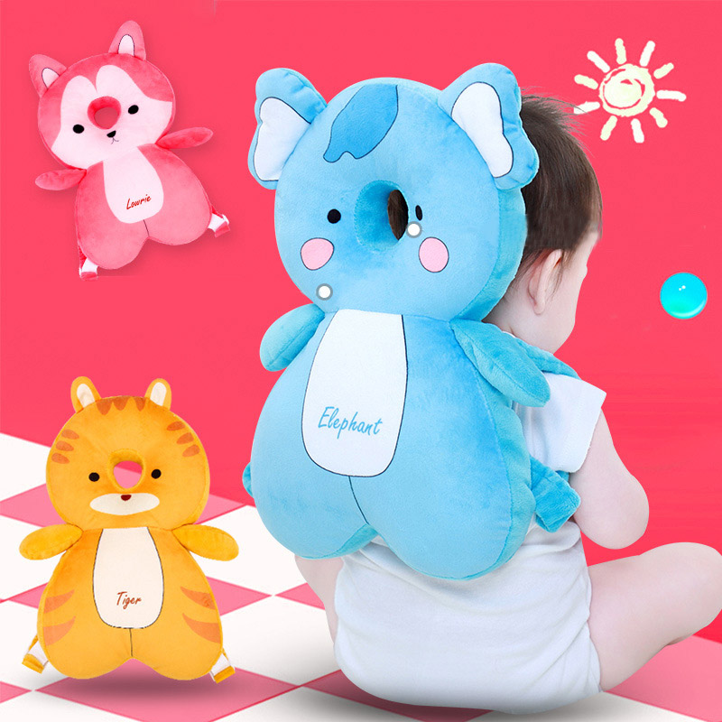 37*22*6cm Baby Pillow Cartoon Pp Cotton Baby Head Protection Pad Toddler Headrest Pillow Baby Sleep Positioner Anti Fall Cushion Baby Bedding Pillow